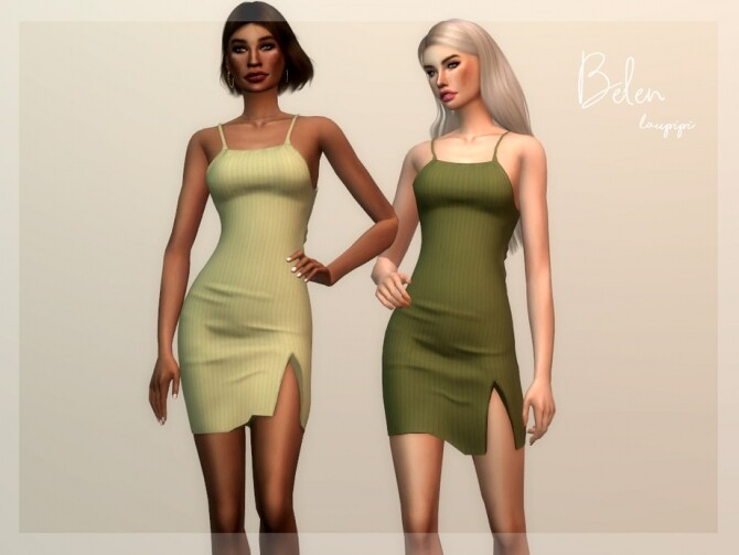 Sims 4 Belen dress by laupipi at TSR