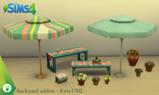 Sims 4 TS4 Backyard stuff addon at Simmetje Sims