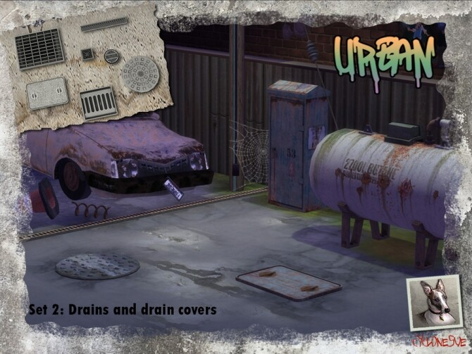 Urban Set 2: Drains and Drain Covers by Cyclonesue at TSR image 1709 670x503 Sims 4 Updates
