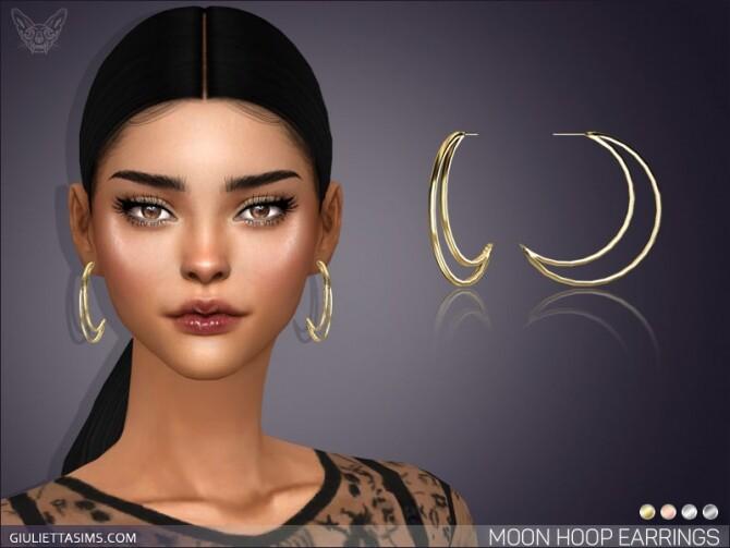 Sims 4 Moon Hoop Earrings at Giulietta
