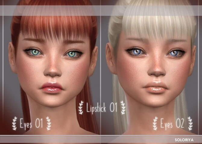 Sims 4 Lipsticks, freckles, pores & earrings at Soloriya