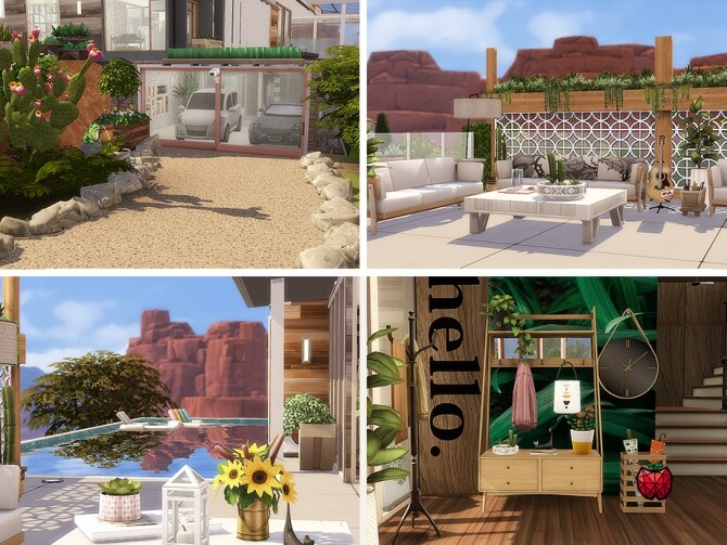 Miles tall mansion with retro vibes by melapples at TSR image 1728 670x503 Sims 4 Updates