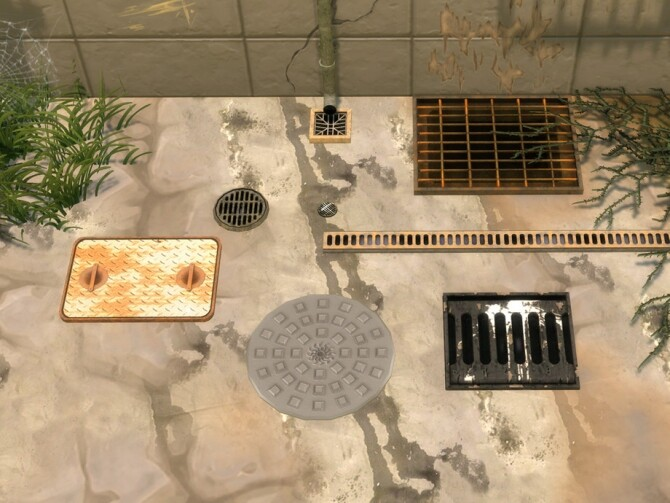 Urban Set 2: Drains and Drain Covers by Cyclonesue at TSR image 17311 670x503 Sims 4 Updates