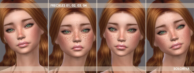 Lipsticks, freckles, pores & earrings at Soloriya image 1732 670x253 Sims 4 Updates