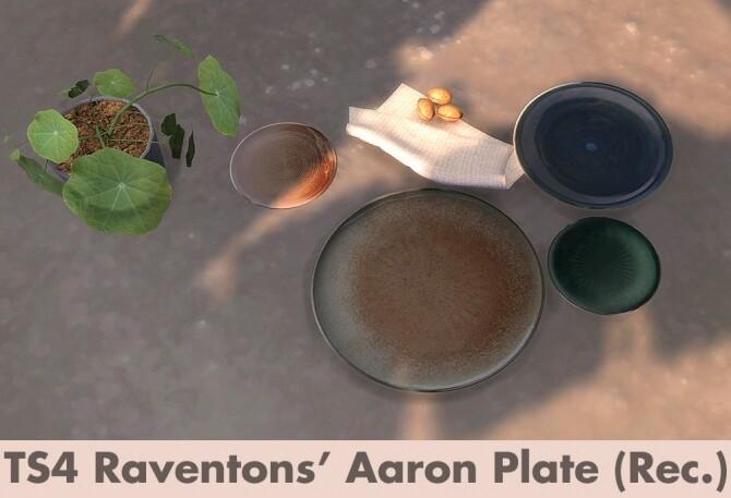 Sims 4 RAVENTONS Aaron plate recolors at Riekus13