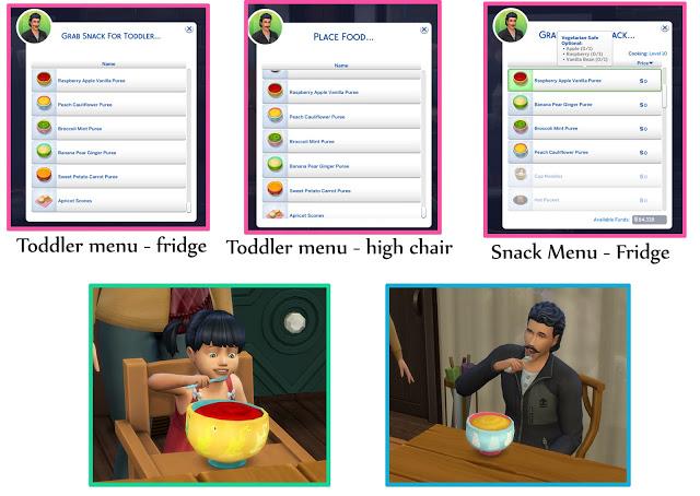Sims 4 TODDLER PUREE SET at Icemunmun
