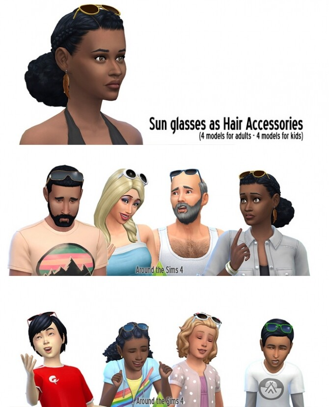 Sunglasses over head at Around the Sims 4 image 1787 670x829 Sims 4 Updates