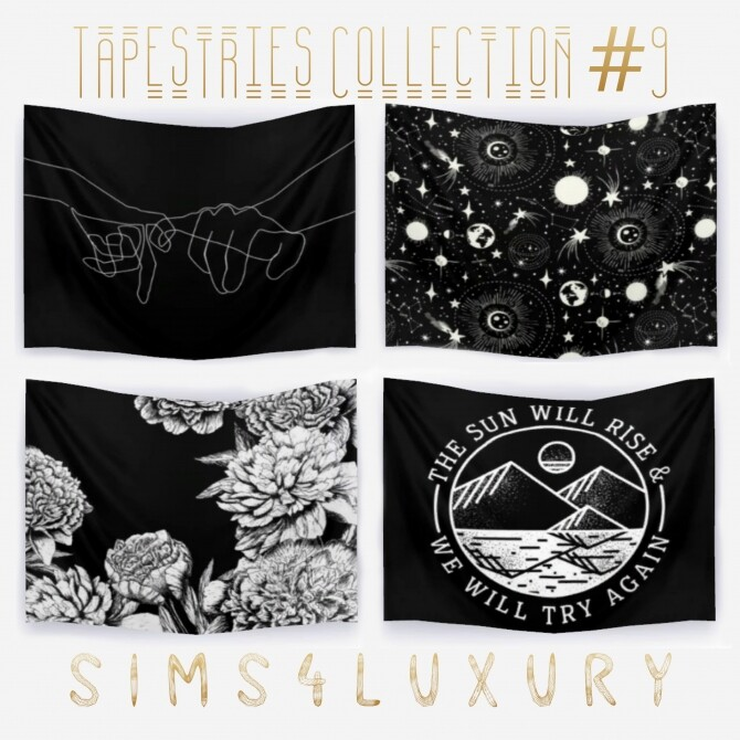 Sims 4 Tapestries Collection #9 at Sims4 Luxury