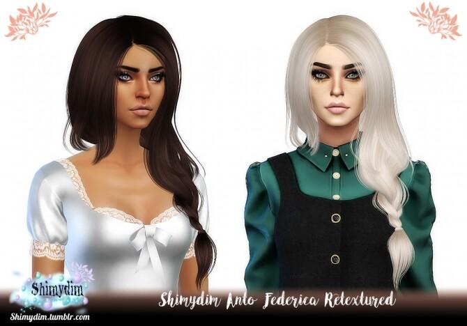 Sims 4 Anto Federica Hair Retexture Naturals + Unnaturals at Shimydim Sims