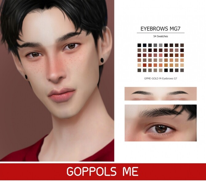 Sims 4 GPME GOLD M Eyebrows G7 at GOPPOLS Me