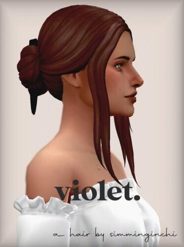 Violet hair