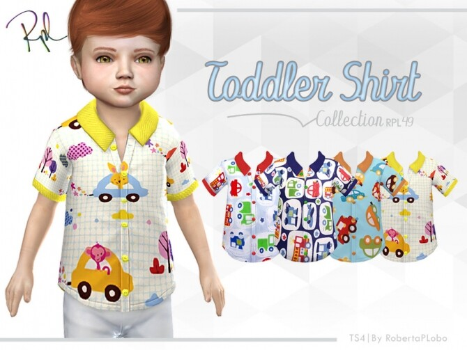 Toddler Shirt Collection RPL49 by RobertaPLobo at TSR image 1820 670x503 Sims 4 Updates