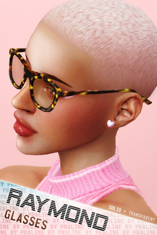 RAYMOND Glasses (Solid + Transparent) at Praline Sims image 1829 667x1000 Sims 4 Updates