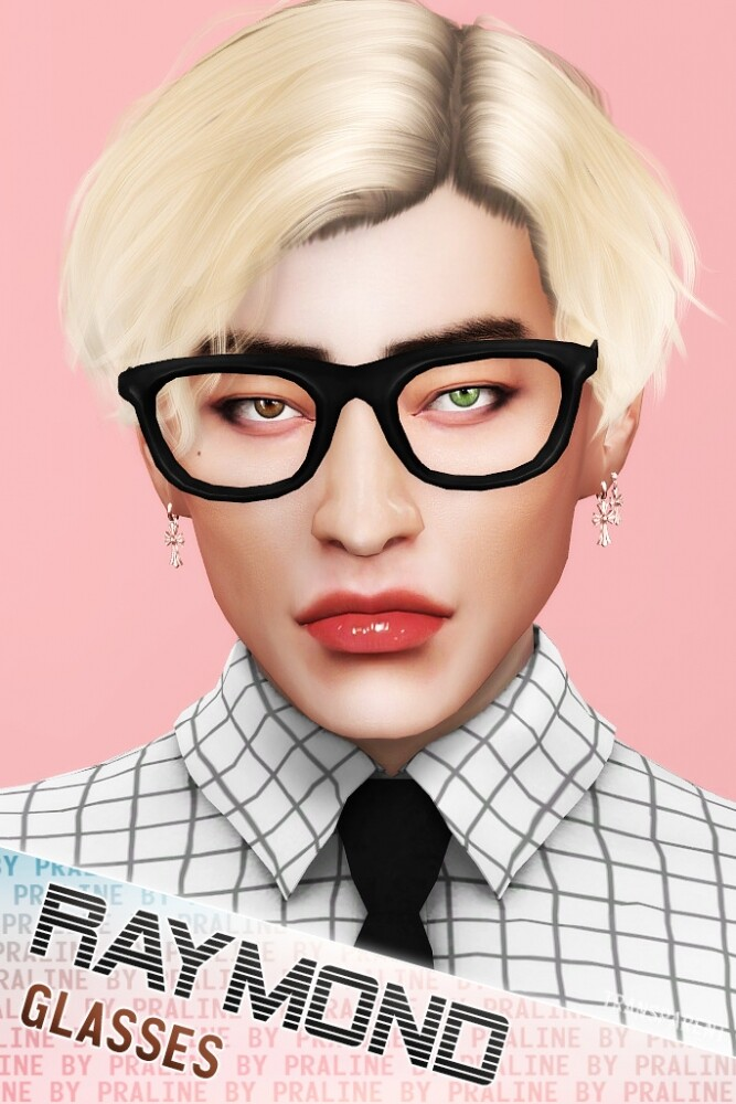 RAYMOND Glasses (Solid + Transparent) at Praline Sims image 1835 667x1000 Sims 4 Updates