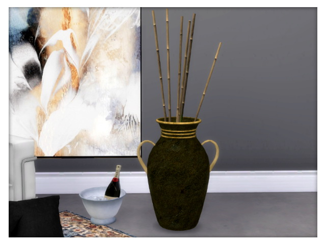 Sims 4 Floor vase with handle by Oldbox at All 4 Sims