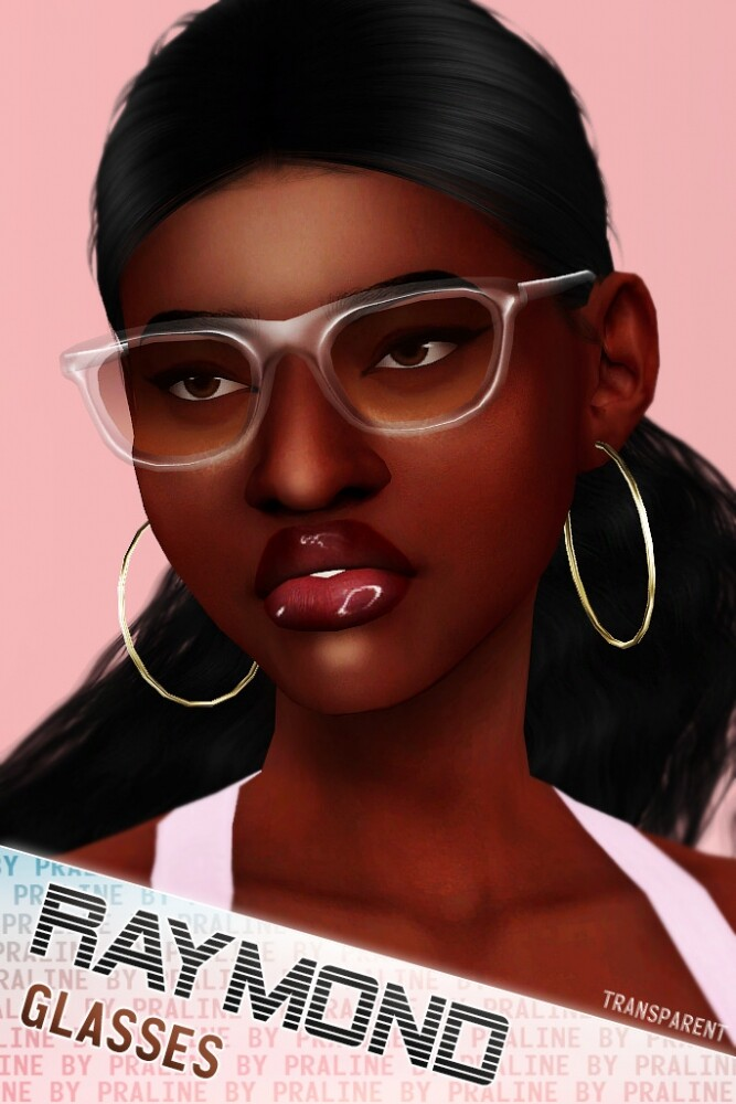 RAYMOND Glasses (Solid + Transparent) at Praline Sims image 1856 667x1000 Sims 4 Updates