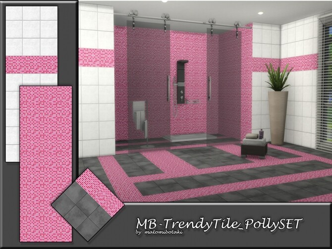 MB Trendy Tile Polly SET by matomibotaki at TSR image 186 670x503 Sims 4 Updates