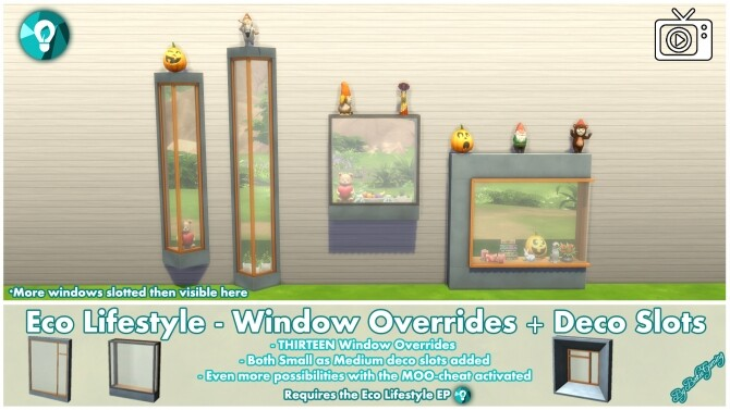 Eco Lifestyle Windows + Deco Slots Overrides by Bakie at Mod The Sims image 1878 670x377 Sims 4 Updates
