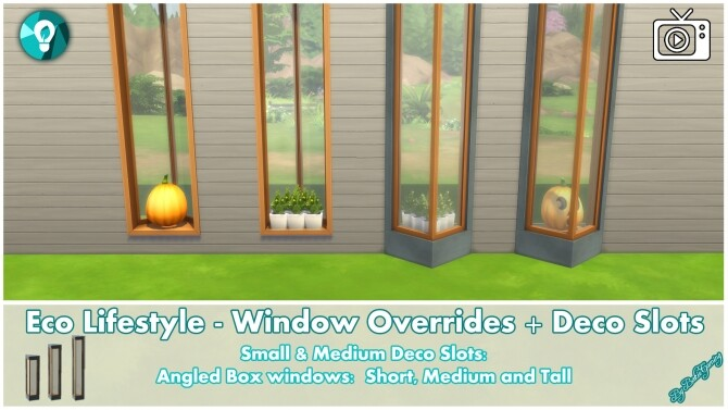 Eco Lifestyle Windows + Deco Slots Overrides by Bakie at Mod The Sims image 1888 670x377 Sims 4 Updates