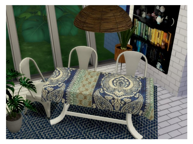 Sims 4 Dining table by Oldbox at All 4 Sims