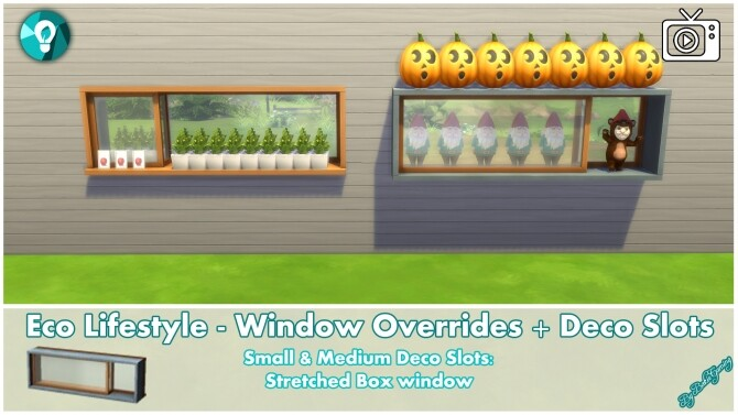 Eco Lifestyle Windows + Deco Slots Overrides by Bakie at Mod The Sims image 1898 670x377 Sims 4 Updates
