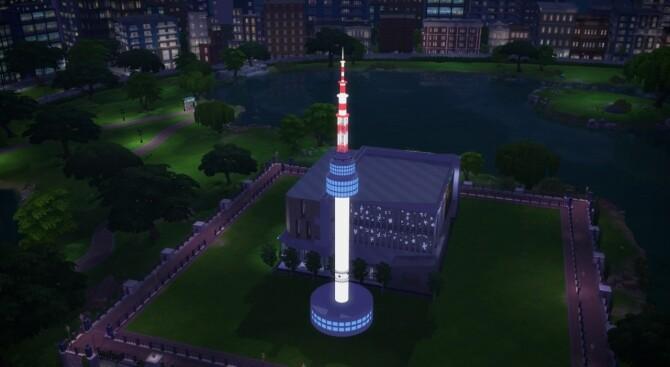 Sims 4 N Seoul Tower at Mochachiii