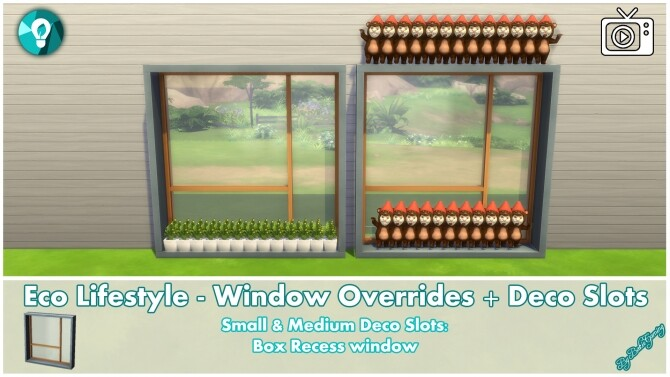 Eco Lifestyle Windows + Deco Slots Overrides by Bakie at Mod The Sims image 19113 670x377 Sims 4 Updates