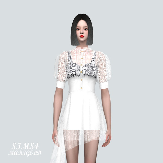 Sims 4 Lace Cardigan at Marigold