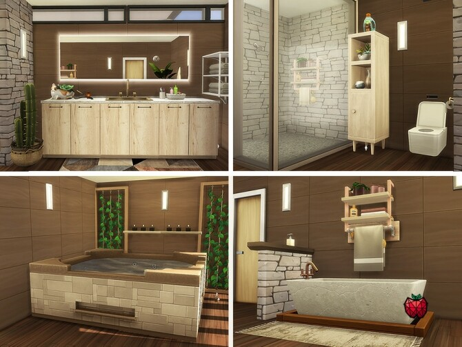 Miles tall mansion with retro vibes by melapples at TSR image 1927 670x503 Sims 4 Updates
