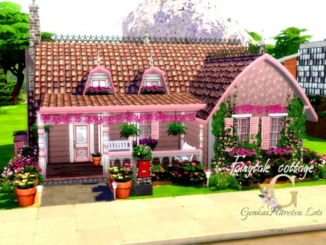 Fairytale Cottage by GenkaiHaretsu at TSR image 1930 670x503 Sims 4 Updates