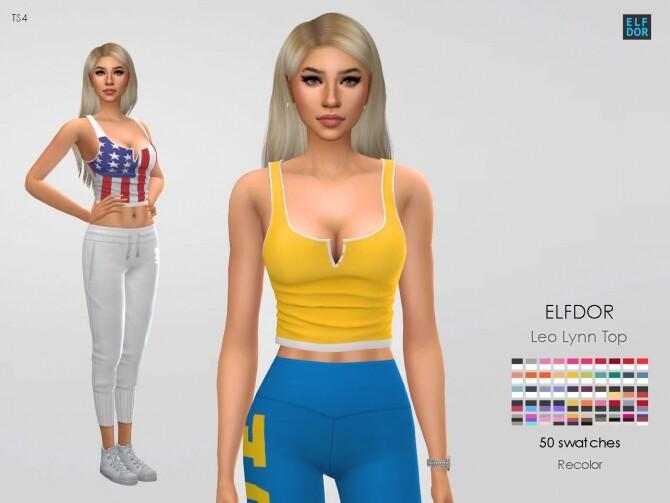 Sims 4 Leo Lynn Top RC at Elfdor Sims