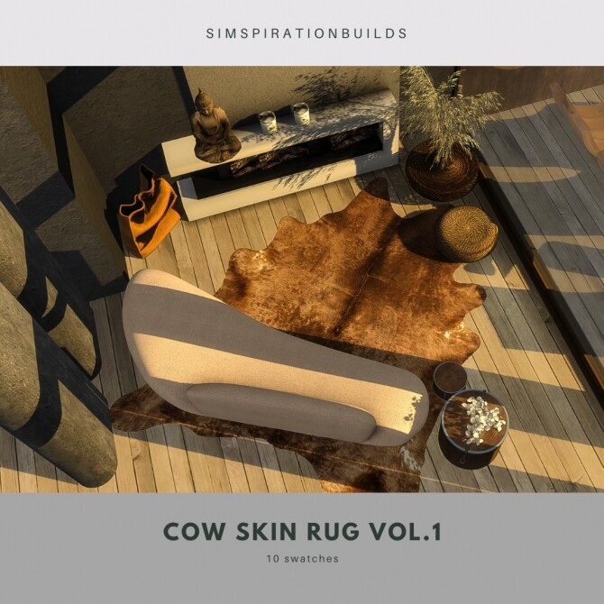 Sims 4 Cow skin rugs vol.1 at Simspiration Builds