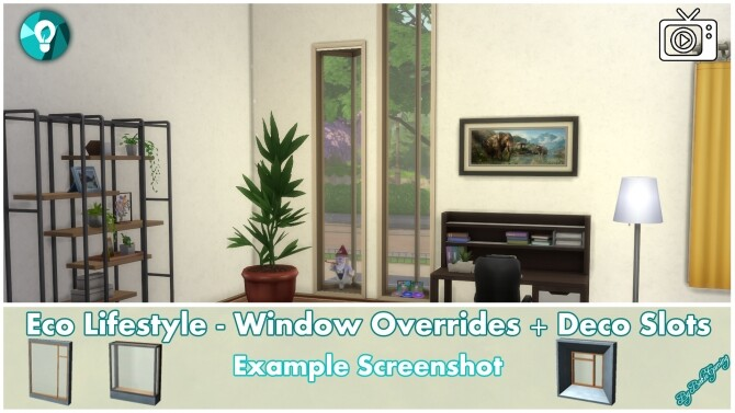 Eco Lifestyle Windows + Deco Slots Overrides by Bakie at Mod The Sims image 1959 670x377 Sims 4 Updates