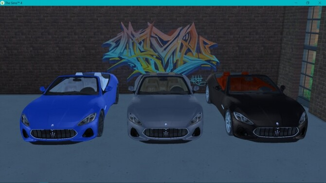 Sims 4 Maserati GranCabrio Sport at LorySims