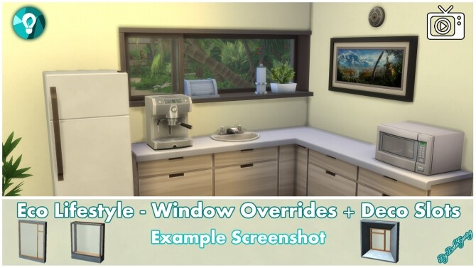 Eco Lifestyle Windows + Deco Slots Overrides by Bakie at Mod The Sims image 1968 670x377 Sims 4 Updates