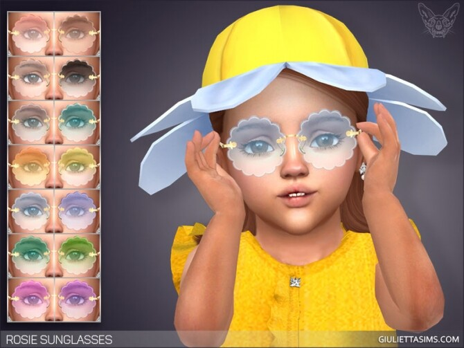 Sims 4 Rosie Sunglasses For Toddlers at Giulietta