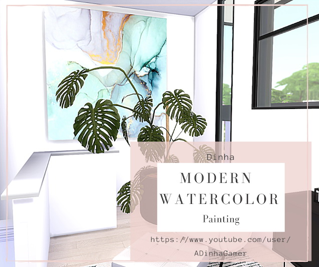 Modern Painting Watercolor at Dinha Gamer image 1984 Sims 4 Updates