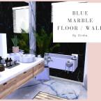 Blue Marble Floor Wall