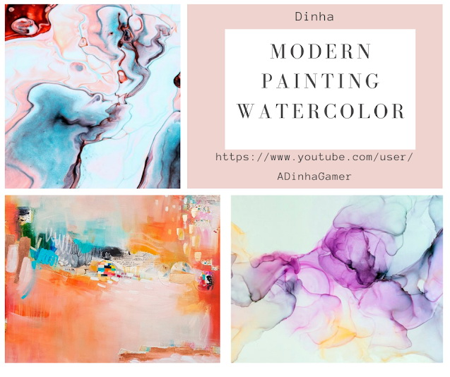 Modern Painting Watercolor at Dinha Gamer image 1994 Sims 4 Updates