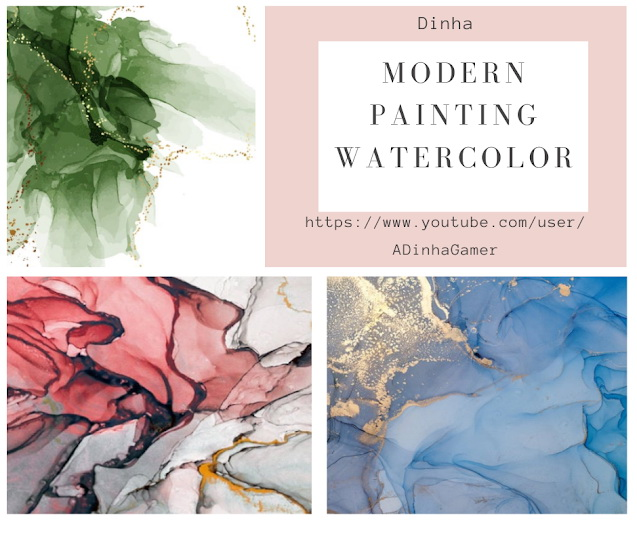 Modern Painting Watercolor at Dinha Gamer image 2004 Sims 4 Updates