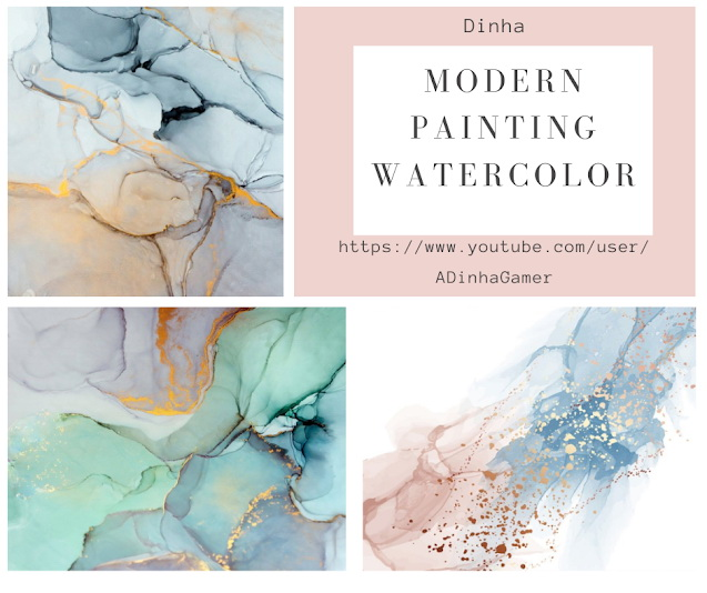 Modern Painting Watercolor at Dinha Gamer image 2019 Sims 4 Updates