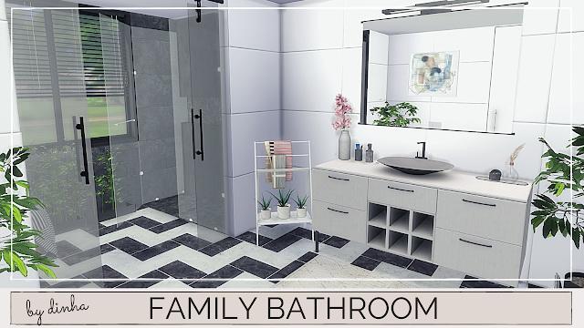 Sims 4 FAMILY BATHROOM at Dinha Gamer