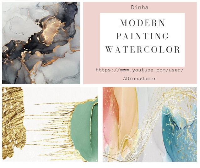 Modern Painting Watercolor at Dinha Gamer image 2024 Sims 4 Updates