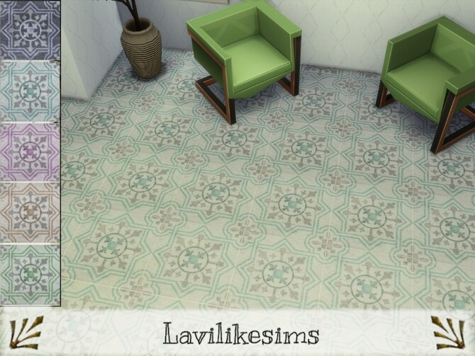 Sims 4 Compass Floor Tile by lavilikesims at TSR