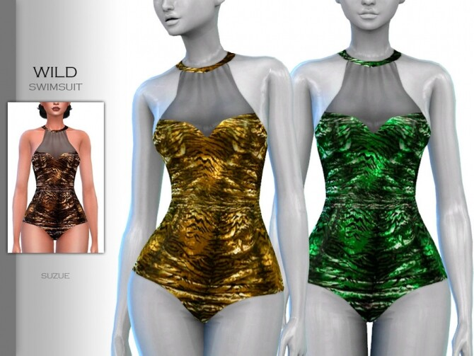 Wild Swimsuit by Suzue at TSR image 2030 670x503 Sims 4 Updates