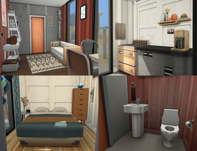 Sims 4 Container Duo Starter House at Simsontherope