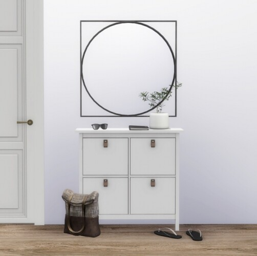 Hemnes Shoes Storage Geometric Mirror DBKD Pair Pot