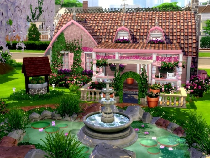 Fairytale Cottage by GenkaiHaretsu at TSR image 2036 670x503 Sims 4 Updates