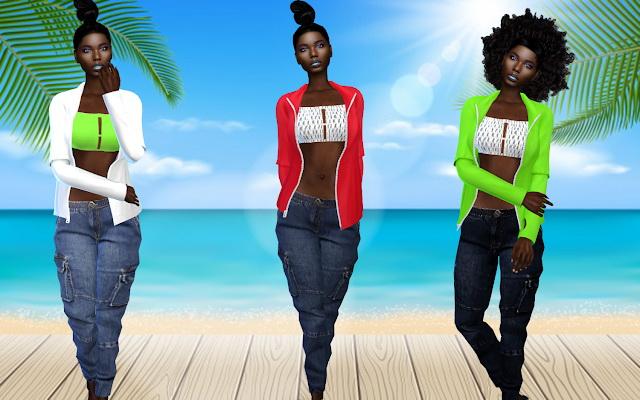 Boyfriends Style jeans & jacket at Teenageeaglerunner image 205 Sims 4 Updates