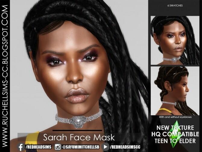 Sims 4 Sarah Face Mask at Ruchell Sims